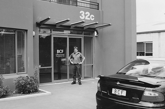 Chris Graham outside BCF office